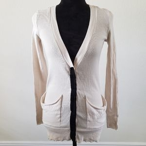 B2G1 Simply Vera Wang Snap Button Ivory Cardigan